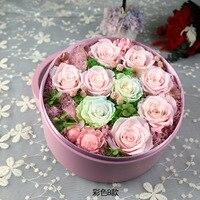 Eternal Rose Precious Storage Round Box Home Decoration Valentine's Day Gifts Birthday Gift
