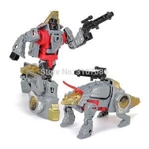 Image 4 - G1 transformação bpf dinoking vulcanicus grimlock lama snarl swoop barra dinobots 5in1 figura de ação robô brinquedos