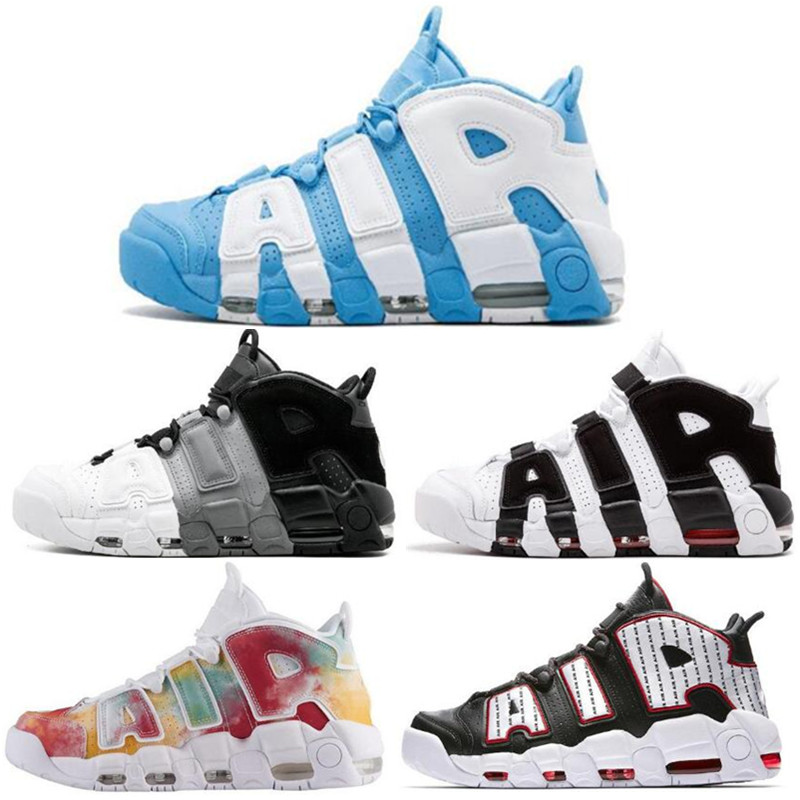 96 QS Olympic Varsity Maroon Men Basketball Shoes 3M Scottie Pippen Uptempo 720 Chicago Trainers Sports Mens Casual Sneakers image