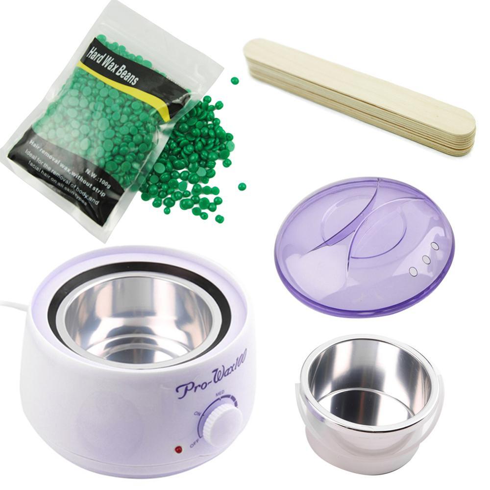 1 Set Wax Heater With Hard Wax Beans For Depilation Facial Hair Remover Wax Warmer Pearl Depiladora Facial Wax Set Hair Removal