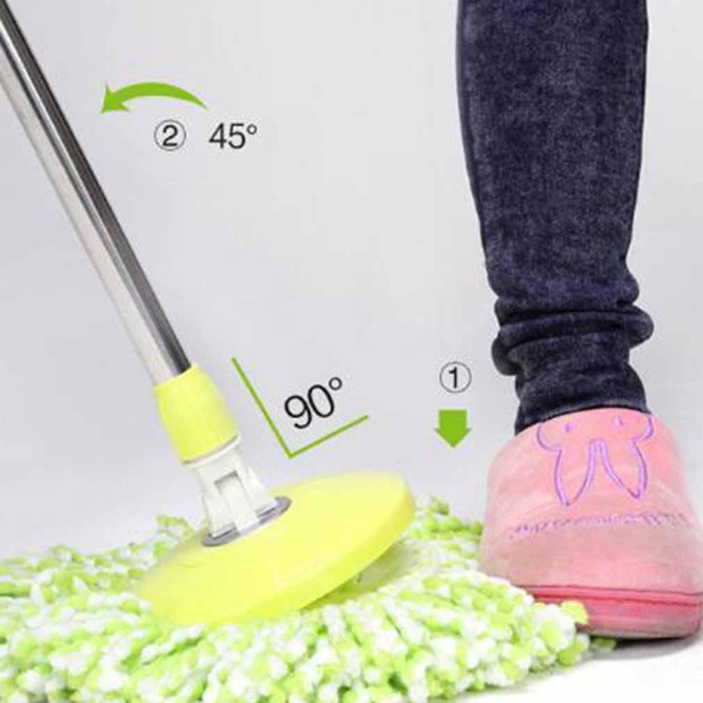 2018 Praktische Ontwerp Gemakkelijk Magic Vloer Mop 360 Graden Emmer Vervangen Microfiber Spin Vervangen Draaiende Mop Hoofd