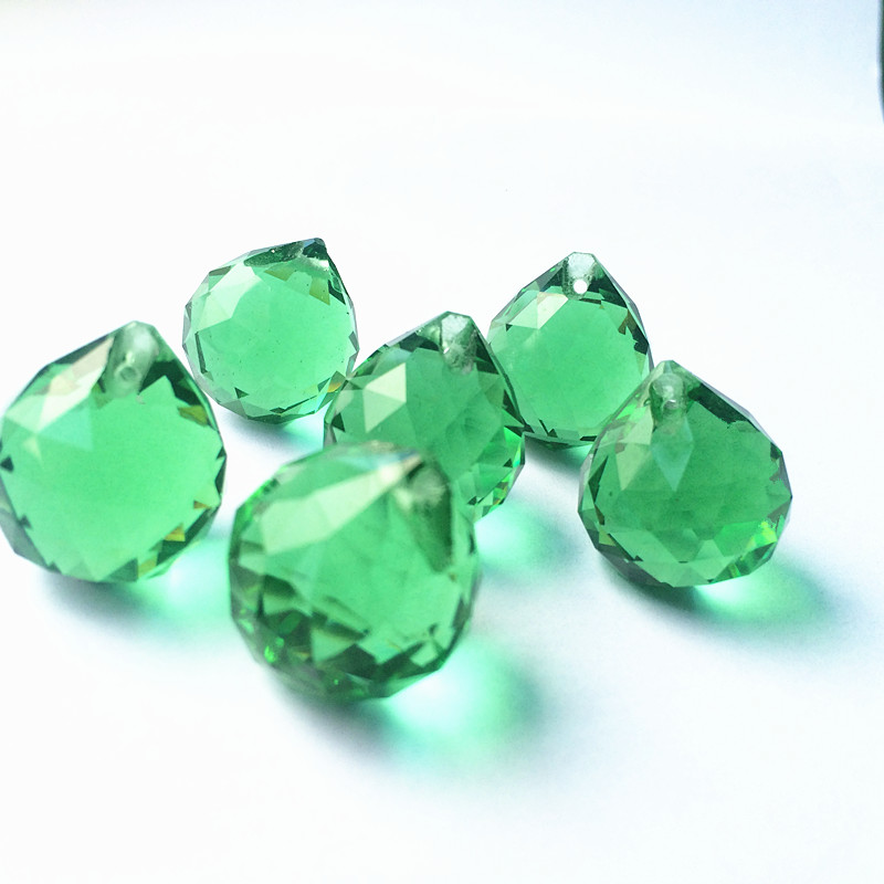 20mm Gold/Green/ Fuchsia  Faceted Glass Crystal Balls For Chandelier Parts, Lighting Balls Suncatcher Wedding Home Decoration