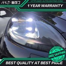 AKD Car Styling dla Cayenne reflektory 2011-2014 Cayenne LED reflektor DRL wysoka martwa wiązka Upgrade lampa czołowa akcesoria