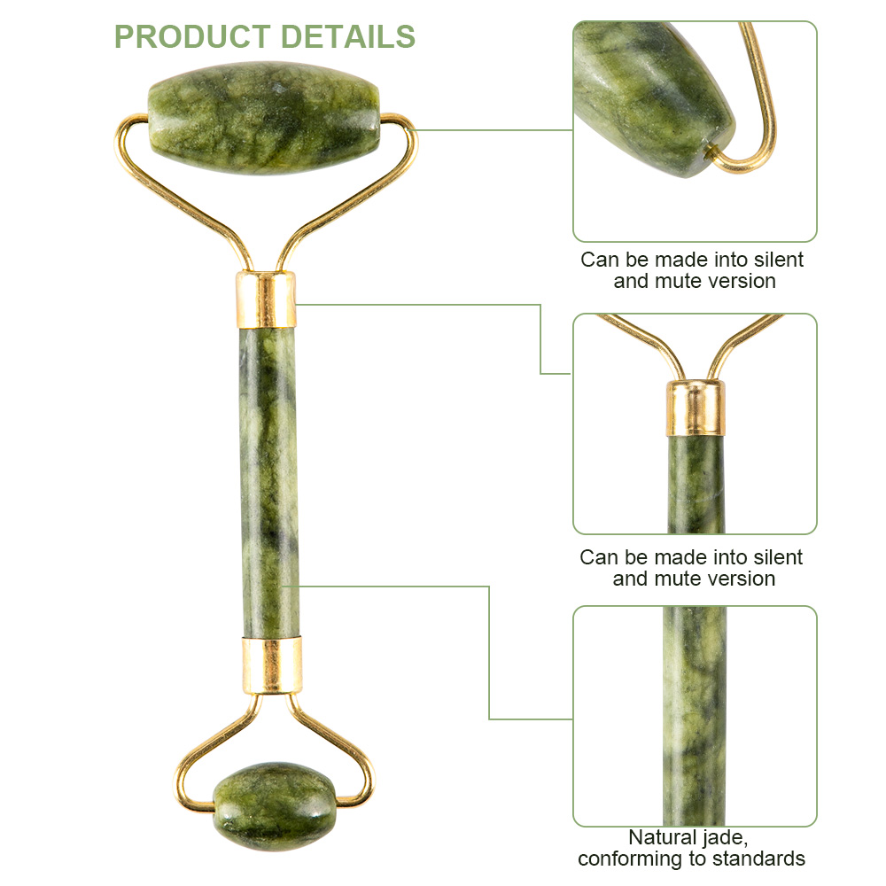 Massager For Face Jade Roller Facial Skin Care Tools Natural  Gouache Scraper Body Back Beauty Slimming Massagers Roller Set 3