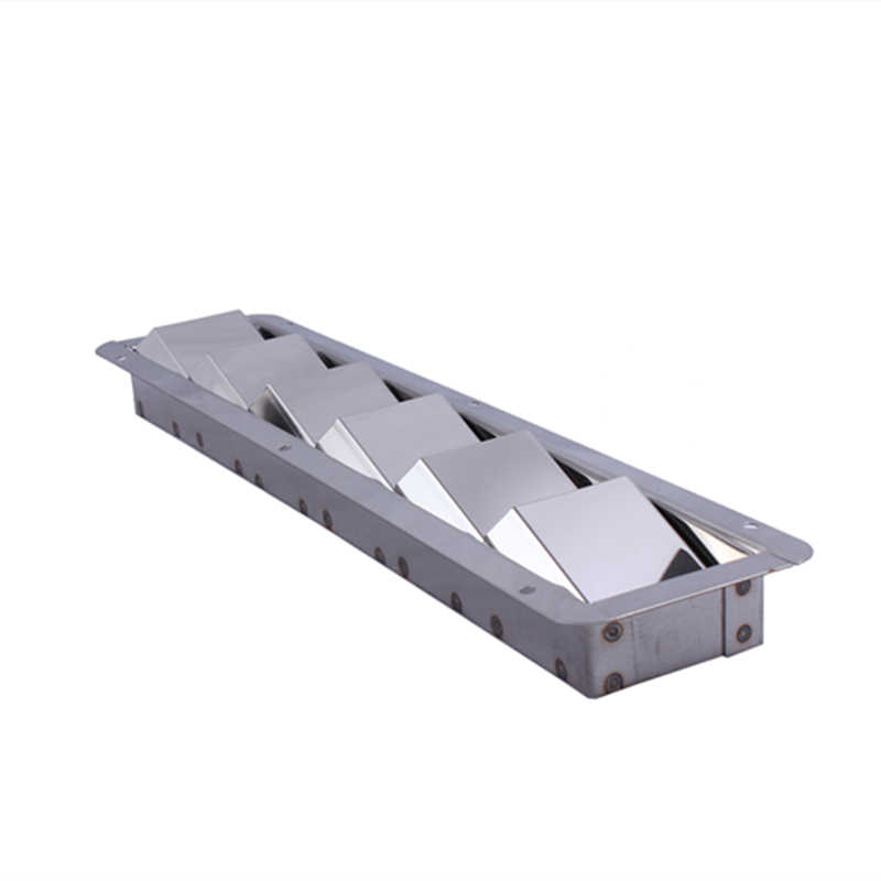 Air Vent Vertical Boat Louvered Vent Marine Stainless Steel 228x127mm