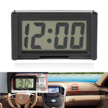Mini horloge de voiture Auto voiture camion tableau de bord temps pratique Durable Auto-adhésif support véhicule électronique horloge numérique pour voiture