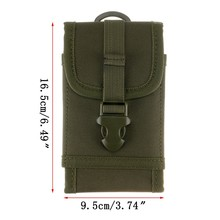 6 Inch Molle Tactical Mobile Phone Pouch Case Cell Phone Holster Military Army Hunting Belt Waist Pack Outdoor Phone Holder Bag