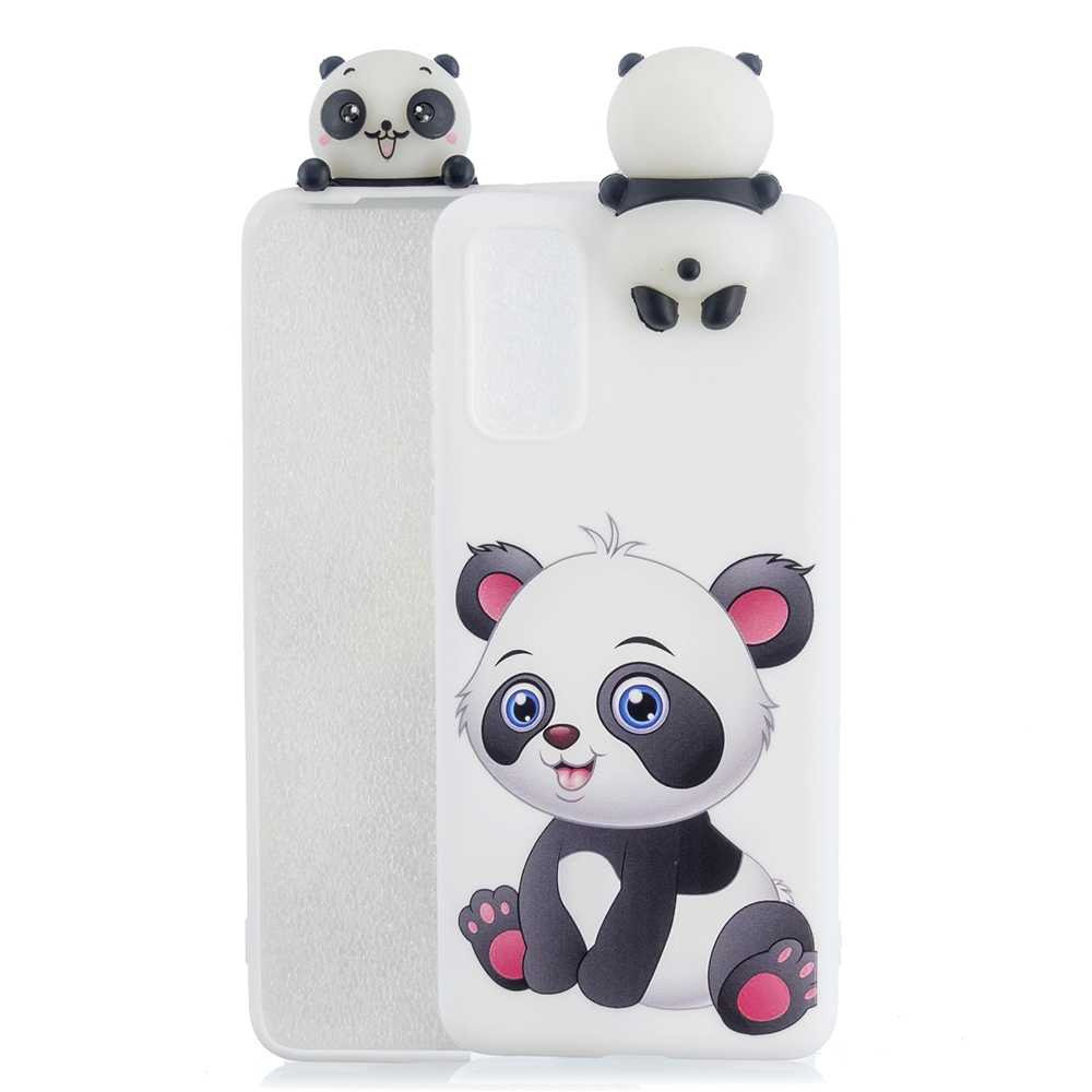 S20 artı kılıf için Samsung Galaxy S20 Ultra kılıf A51 A01 3D Kawaii Unicorn Panda silikon Coque Samsung a51 A71 bir 01 kapak