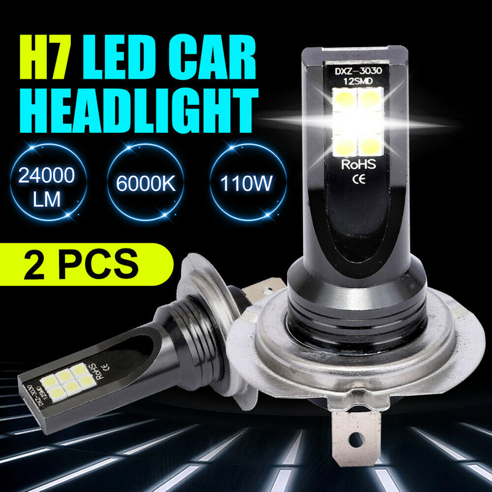 H7 80W <font><b>LED</b></font> Car <font><b>Headlight</b></font> 10000Lm Conversion Globes Bulbs Beam 6000K Kit 9-32V <font><b>360</b></font> Degrees Bulbs Car Accessories With Package image