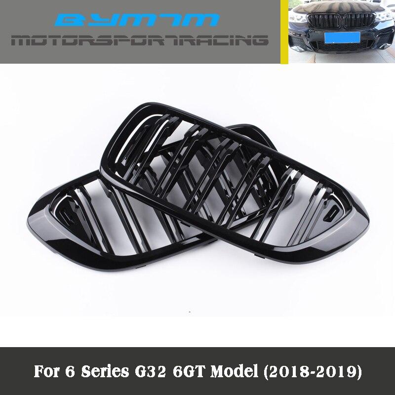 Dubbele Lijn Heldere Zwarte Drie Kleur Carbon Fiber Abs Nieren Voor Bmw G32 6GT