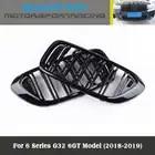 Dubbele Lijn Heldere Zwarte Drie Kleur Carbon Fiber Abs Nieren Voor Bmw G32 6GT - 1