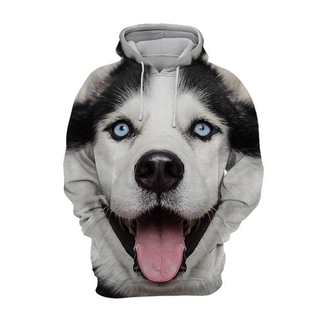 2021 New 3D Full body  print Pet hoodie  Funny  dog hoodies Men\women adult children's Cute dog pattern tops European size 3