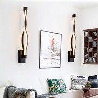 Linha simples quarto lâmpadas de parede de cabeceira led arte moderna lâmpada de parede acrílico luzes da escada do corredor projetado novas chegadas