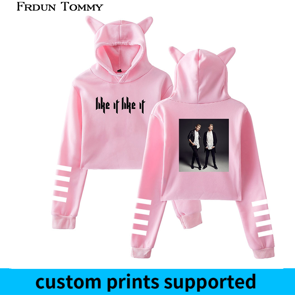 Frdun Tommy Marcus & Martinus Cat Ear Women Sexy Sweatshirt New Hoodies Long Sleeve Fashion Harajuku Kpop Casual Clothes