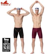 Yingfa jammer masculino banho de natação shorts fina aprovação masculino treinamento troncos shorts calças apertadas