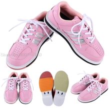 Beginners Indoor Bowling Supplies Women Bowling Sneaker Skidproof Flat Sports Shoes Woman Girls Leather Training Trainers