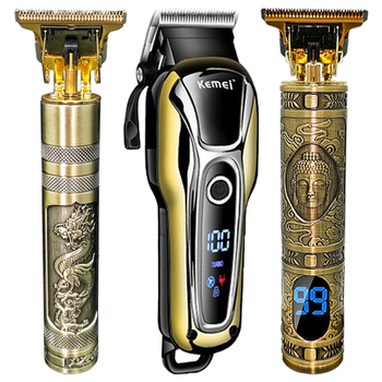hair clipper Electric trimmer Cordless Shaver Trimmer 0mm Men Barber Hair Cutting Machine Carved Hairdresser 5 - discount item  51% OFF Personal Care Appliances
