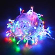 Рождественская гирлянда, светодиодная гирлянда для украшения комнаты, 220 В