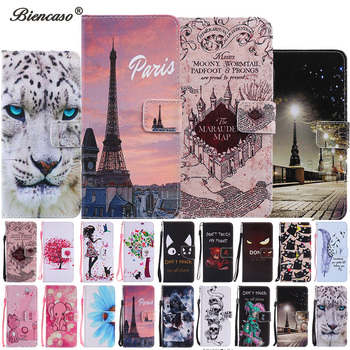 Cute Pattern Wallet Flip Case For Samsung Galaxy A3 A5 J1 J3 J5 2016 S7 Edge S8 S9 Plus J320 J510 J710 A310 A510 A320 A520 Cover image