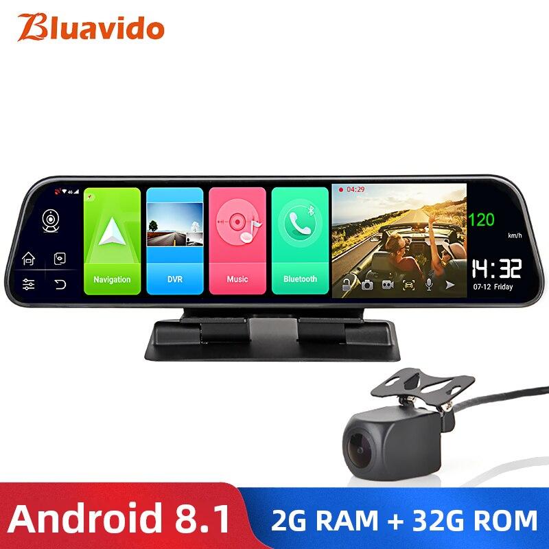 Bluavido Car-Camera Video-Recorder Android Navigation Rear-View-Mirror ADAS FHD 1080P