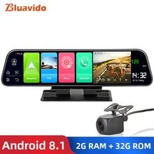 "Bluavido 12 ""ips מראה אחורית מכונית מצלמה 4G אנדרואיד 8.1 ניווט GPS 2G RAM 32G ROM ADAS FHD 1080P דאש מצלמת וידאו מקליט"