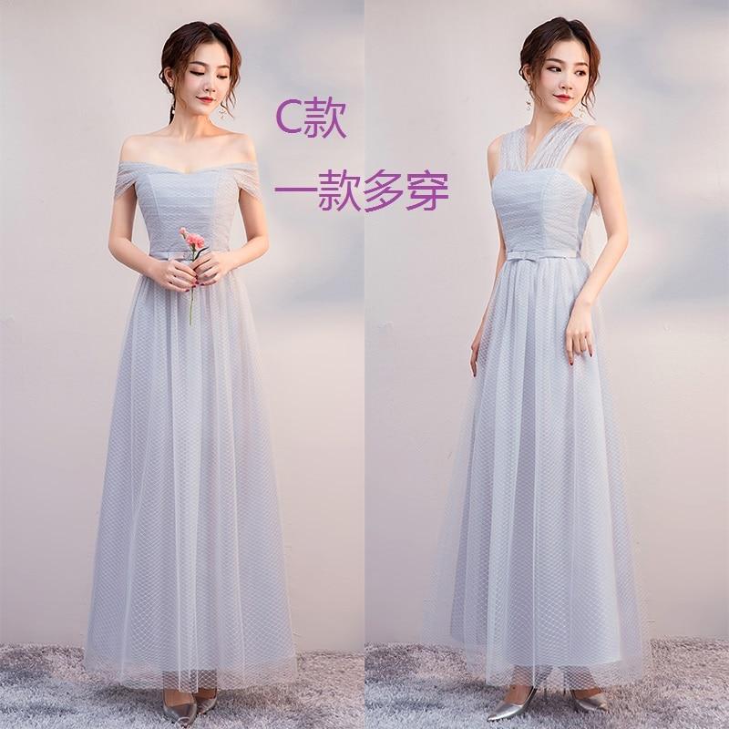 A-Line Bridesmaid Dresses Long Sleeveless Vestido Azul Marino Elegant Dress Women Wedding Party Special Occasion Dress Sexy Prom