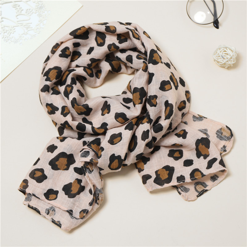 Jeseca Leopard Print   Scarves   for Children 2019 Autumn Winter Cotton Knitted Thick Warm   Scarves   Christmas Girls Cute Neck Collar