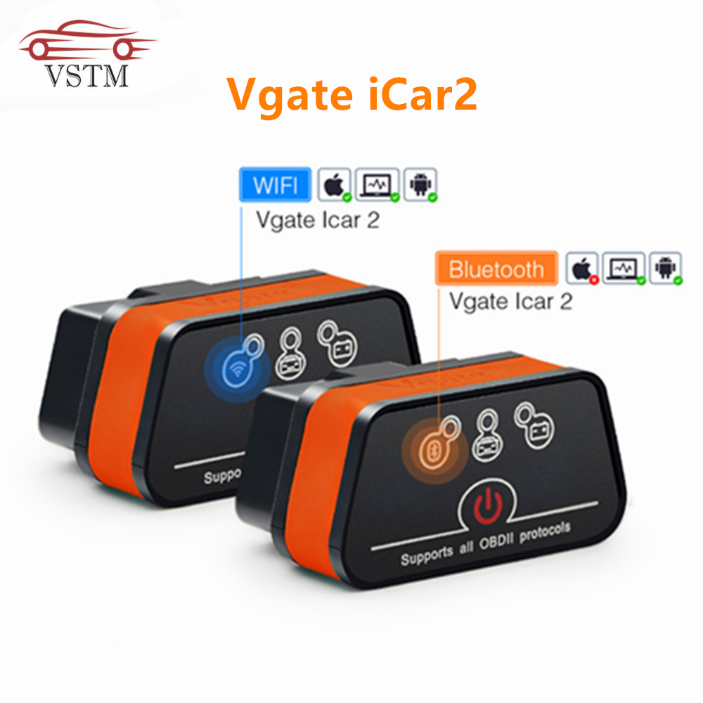 Vgate iCar 2 ELM327 Wifi Bluetooth OBD2 Diagnostic Tool for IOS iPhone Android Icar2 Bluetooth wifi ELM 327 OBDII Code Reader