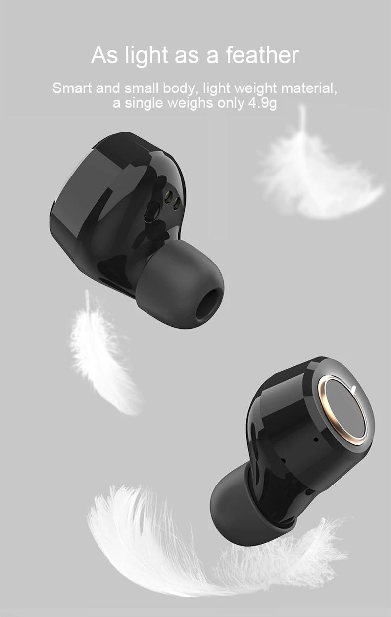 Lenovo X18 TWS Earphone Wireless Bluetooth 5.0 Super Light Earplug Long battery Touch Keys Headset Sweatproof Sports Earbuds (3)