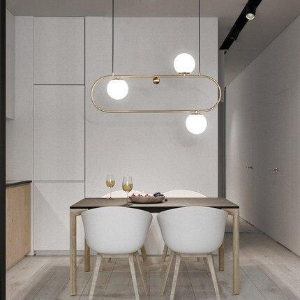 Modern style living room bedroom minimalist restaurant pendant light Nordic clothing decoration glass ball pendant lamp Pendant Lights     - title=