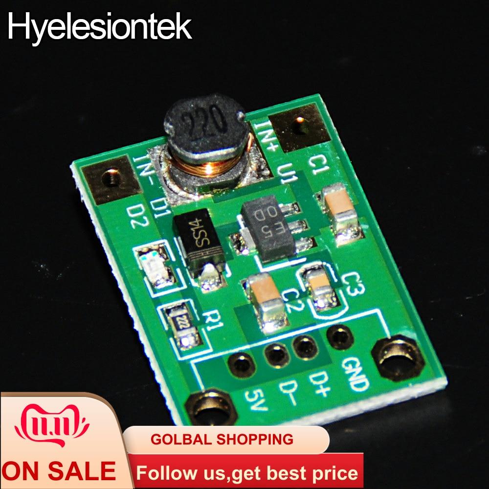 5V DC DC Converter Step Up Power Supply DC-DC Booster Boost Adapter Converter Board Step-Up 500MA Voltage Regulator 1V-5V to 5V