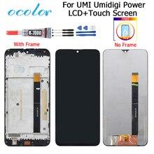 UMI Umidigi güç LCD ekran ve dokunmatik ekran 6.3 sayısallaştırıcı değiştirme + araçları Umidigi güç ile çerçeve + film