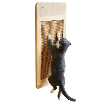 Cat Scratching Board 58x28cm Wall Mounted Solid Sisal Scraper Pad Protect Furniture Sofa Claw Protector Carpet Cats Scratching