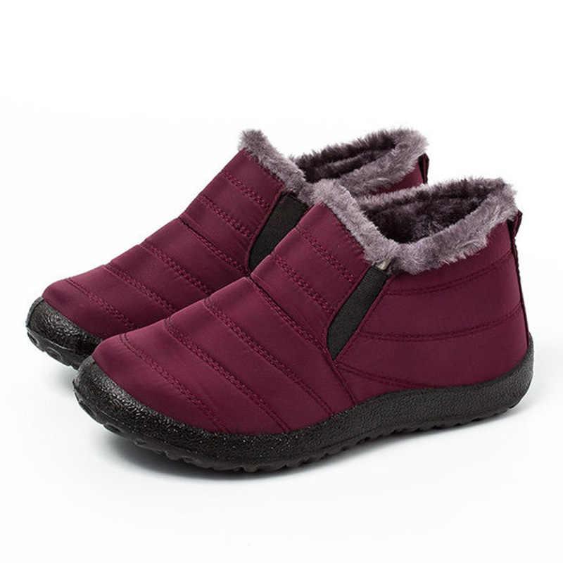 Lakeshi Warm Winter Snowboots Vrouw Enkellaars Voor Vrouwen Schoenen Winter Laarzen Mannen Laarzen Waterdichte Schoenen Fluwelen Korte Laarsjes