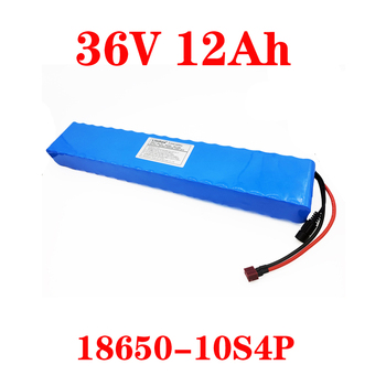 LiitoKala 36V 12ah 10S4P Lelectric bicycle battery pack 18650 Li-Ion Battery 500W High Power 42V Motorcycle Scoote XT60 Plug image