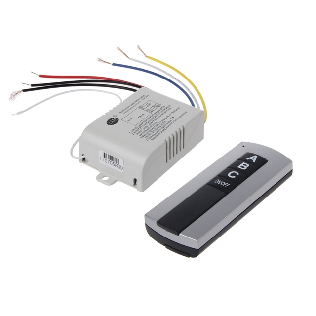 Receptor de interruptor de Control remoto, inalámbrico, 1 canal, 2 canales, 3 canales, luz de encendido/apagado