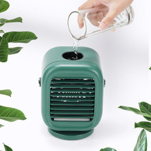 Portable Air Conditioner Mini USB Conditioner Water Ice Cooling Fan Cooler Rechargeable Humidifier Purifier Low Noise for Office