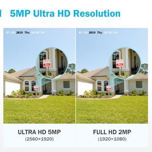 Image 2 - ANNKE 4X caméra Ultra HD 5MP vidéosurveillance TVI pour lextérieur, système de sécurité blanc résistant aux intempéries, Vision nocturne EXIR, Kit dalerte électronique