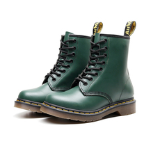 Winter Women Boots Leather Ankle Martens Boots Women Casual Dr. Botas Motorcycle