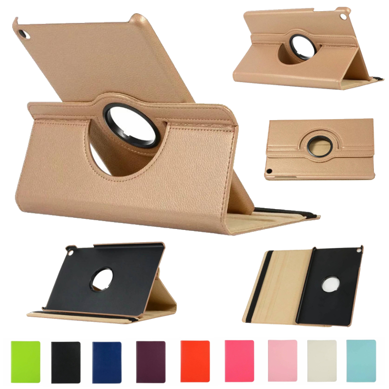 360 Degrees Rotating Litchi PU Leather Flip Cover Case For Samsung Galaxy Tab A 10.1 2019 SM-T510 SM-T515 Tablet image