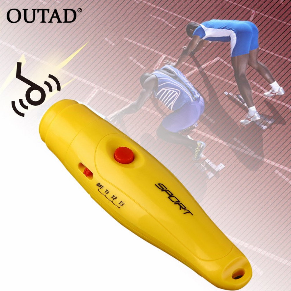 OUTAD Professional Plastic Electronic Referee Whistle Portable Sports Whistle For Running Football Basketball Soccer Games