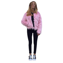 New Plus Size Women Faux Fur 2019 Imitation Coat Ladies Long Sleeves  Winter Clothes