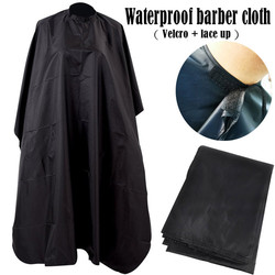 Unisex Professional Capes Waterproof Nylon Salon Hair Cut Hairdressing Hairdresser Barbers Cape Gown Cloth Black Haircut Aprons