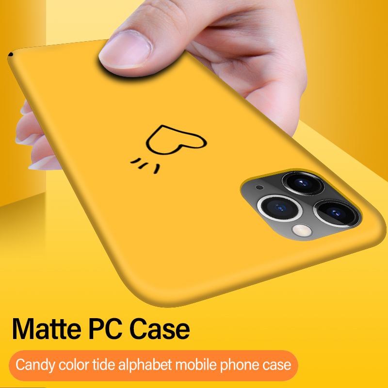 Ultra-thin Colorful Matte Hard PC Phone Case For iPhone 12 11 Pro Max SE XSmax XR XS X 8 7 6 Plus Cute Shockproof Frosted Cover