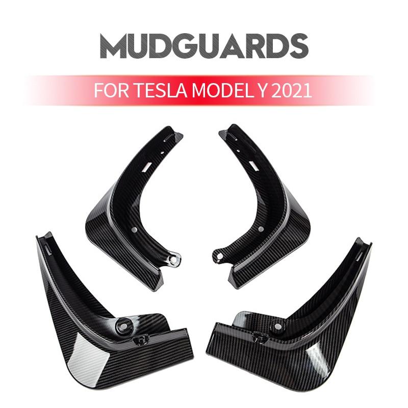 Mud Flaps for Tesla Model Y 2021 Update Splash Guards Mud Fender Mudflaps Flares Front and Rear Wheel & Tire Set