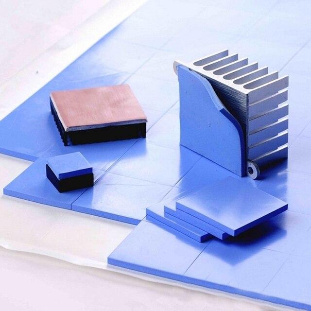 RGEEK New 6.0 W/mK GPU CPU Heatsink Cooling Conductive Silicone Pad 100mm*100mm*1mm Thermal Pad high quality 6