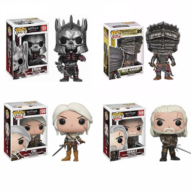 Funko Pop The Witcher Eredin Ciri Geralt From Software3 Red Knight Gaming Peripherals Action Figure Toys Collectible Model Gift