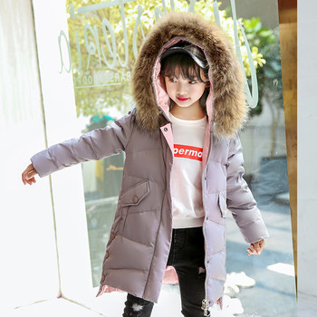 Kids Girls Winter Autumn Faux Fur Coats Hooded Parka Down Coat Puffer Jacket Padded Overcoat Toddler Outerwear #1018