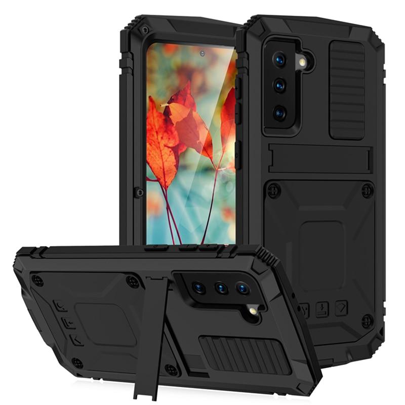 Прочный защитный чехол для телефона Samsung Galaxy S21 S20 Plus Note 20 Ultra A32 A72 A52 5G 4G Металлический Алюминиевый противоударный чехол