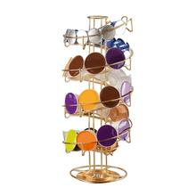 50pcs Capacity 360 degree Metal Capsule Coffee Holder Stand Pod Organizer Coffee Capsule Storage Rack Shelf Coffeeware new metal coffee pods holder iron chrome plating stand coffee capsule storage rack dolce gusto capsule free shipping